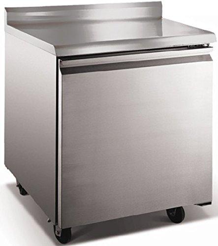 EQ Kitchen Line Stainless Steel Commercial Worktop Refrigerator, 27