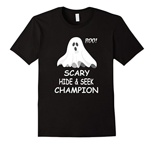 Mens Scary Hide and Seek Champion Funny T-shirt Small Black