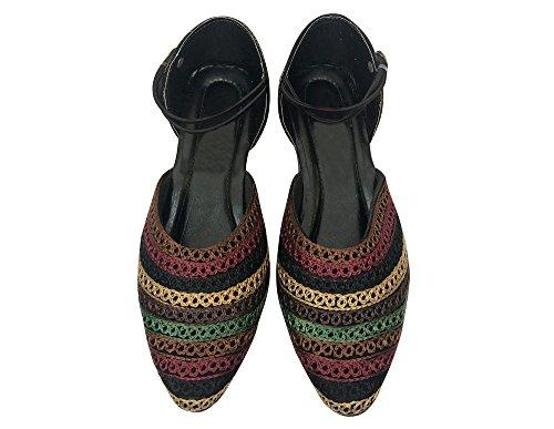 Trinn N Stil Punjabi Jutti Etniske Indiske Sko Flat Ballett Brude Sko Flat  Flipflop ...