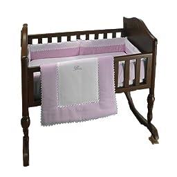 bkb Ric Rac Cradle Bedding, Pink, 18\
