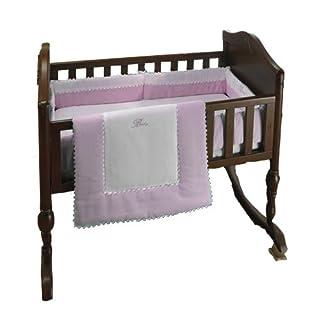 "bkb Ric Rac Cradle Bedding, Pink, 18"" X 36"""