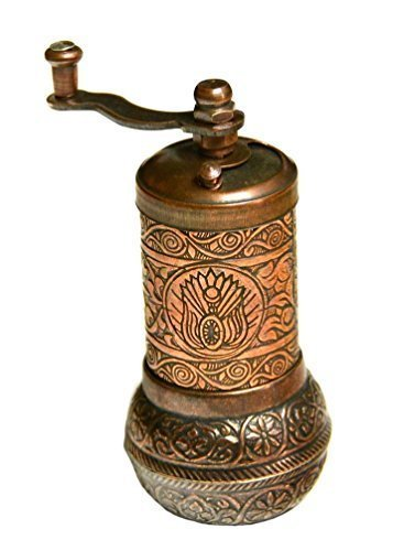 Turkish Pepper Mill - Turkish Handmade Copper Coffee Salt Pepper Spice Grinder Mill 4.2'' (COPPER)