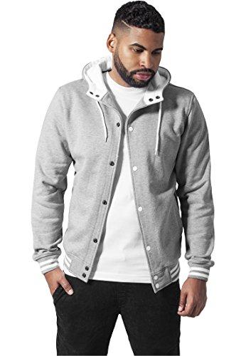 Sweatjacket Gris Blanco Classics Y Urban College Hooded twzqxYf