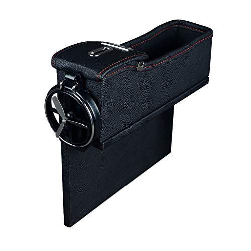 Yaida Multi-Function Storage Box Leather Box Car Change Box Seat Slit Storage Box Beige E -