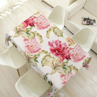Pastoral Style Decorative Table Cloth Cotton Linen Flower Pattern Tablecloth Dining Table Cover Kitchen Home Decor  4 B07SDMC5HC