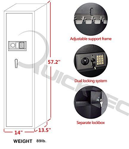 Rifle Safe Gun Safe Quick Access 5-Gun Shotgun Cabinet by Quicktec (Image #6)