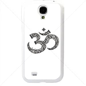 Yoga Symbol Om Sound Mystic Spiritual Sanskrit For Samsung Galaxy S4 SIV I9500 TPU Soft Black or White case (White)