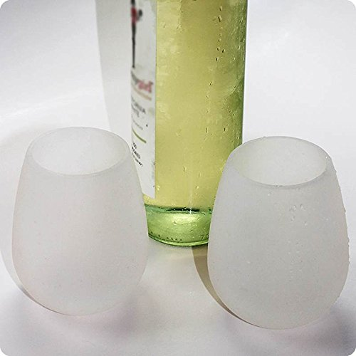 Shenglong Silicone Beer Cups Foldable Silicone Wine Glasses Unbreakable Collapsible Stemless Beer Whiskey Cups (Set of 4)