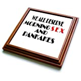 3dRose RinaPiro - Sex Quotes - We all deserve morning sex and pancakes. - 8x8 Trivet with 6x6 ceramic tile (trv_266043_1)