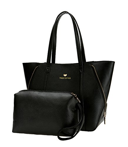 Keshi Pu Niedlich Damen Handtaschen, Hobo-Bags, Schultertaschen, Beutel, Beuteltaschen, Trend-Bags, Velours, Veloursleder, Wildleder, Tasche Schwarz