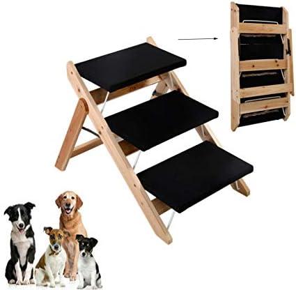 WTTTTW Escaleras Plegables de Madera para Mascotas, Rampa para Perros pequeños, 3 Pasos, Sofá, Vehículo para camión, Escalera portátil para Mascotas, Cat Puppy Dog Stair Step Stool Ramps: Amazon.es: Deportes y aire