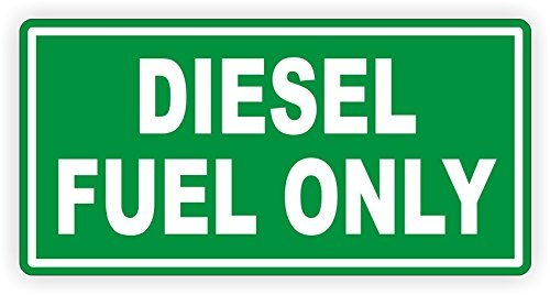 Diesel Fuel Only Vinyl Decal Sticker Label Fuel Gas Door Label Weatherproof