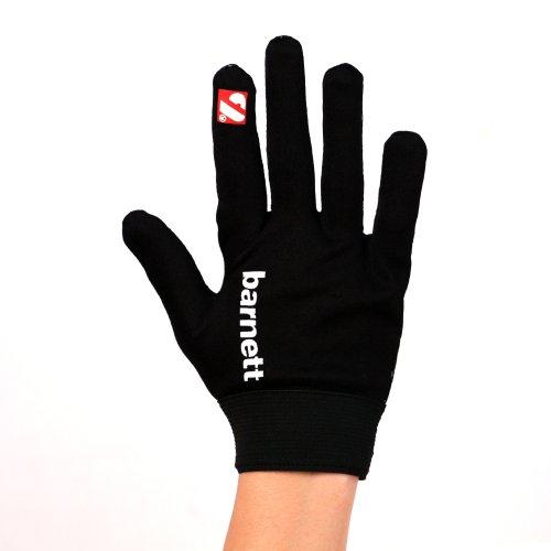 FLGL-02 American Football Handschuhe Running, RE,DB,RB, Schwarz, barnett (L)