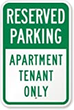 Diuangfoong Reserved Parking: Apartment Tenant Only Sign, 18' x 12'