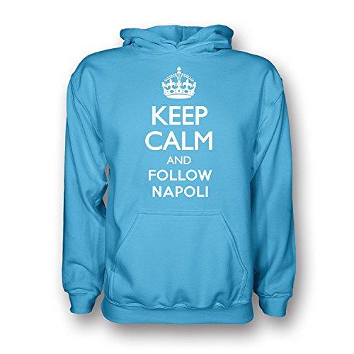 盗難誕生日安全Keep Calm And Follow Napoli Hoody (sky Blue) - Kids