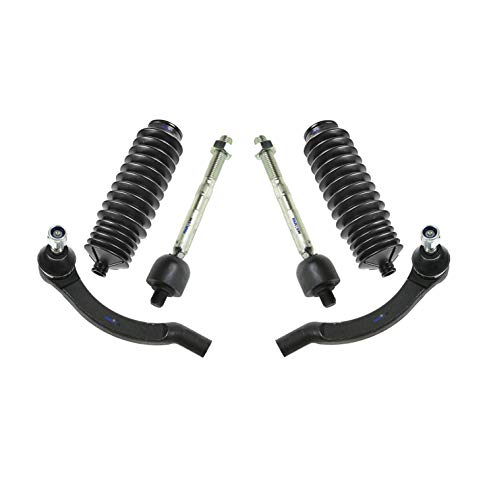 PartsW 6 Pc Front Steering Kit for Volvo 850 / Volvo C70 / Volvo S70 / Volvo V70 / Rack and Pinion Bellow Boot, Inner & Outer Tie Rod End