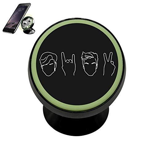 (MagicQ Fashion Design Noctilucent Magnetic Dolan-Twins Merchan-dise Logo Phone Car Mount)