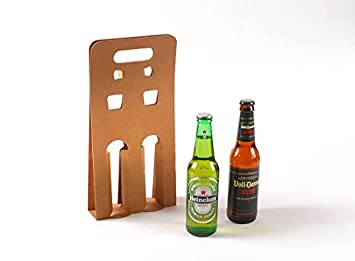 Selfpackaging Caja para tercios de Cervezas. Pack de 25 Unidades - L: Amazon.es: Hogar