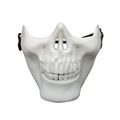 Amosfun 2PCS Halloween Mask Skull Skeleton Mask Full Face Protector Cosplay Party Masque Halloween Party Favors Supplies White: Home & Kitchen