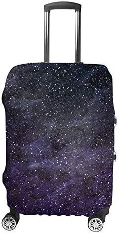 スーツケースカバー 星で満たされた魔法の宇宙 伸縮素材 キャリーバッグ お荷物カバ 保護 傷や汚れから守る ジッパー 水洗える 旅行 出張 S/M/L/XLサイズ