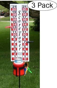 ScoreTower - Scoreboard & Drinkholder for Bocce Ball (Thrее Расk) by Backyard Scoreboards