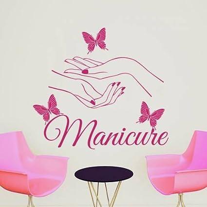 Amazon Wall Decals Beauty Salon Nail Art Manicure Vinyl Decal