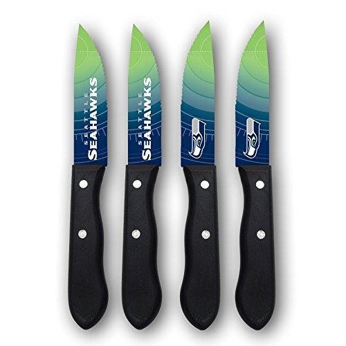 (Sports Vault NFL Seattle Seahawks Steak Knive Set)