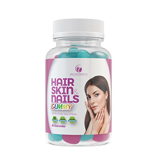 Organic & All-Natural Hair Growth Vitamins for Thicker, Stronger and Healthier Hair in a Gummy Form, 30 day supply (60Ct)