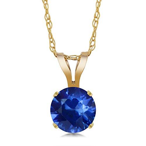 Round Yellow Sapphire Pendant - 2