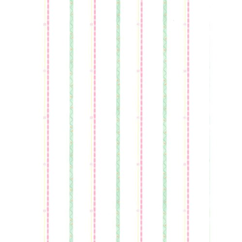 Squiggle Stripe - York Wallcoverings KZ4267SMP York Kids IV Squiggle Stripe 8-Inch x 10-Inch Memo Sample Wallpaper, White Background/Lime Green/Pink