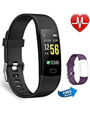 Juboury Fitness Tracker Activity Watch Heart Rate Monitor Waterproof Pedometer Color Screen