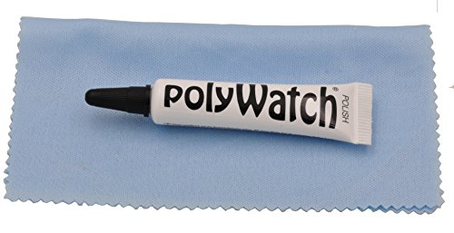 New Polywatch Plastic Crystal Glass Polish & Scratch Remover Repair Tool Set With Cloth by Polywatch