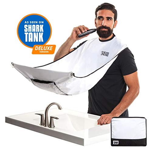 BEARD KING - The Official Beard Bib - Hair Clippings Catcher & Grooming Cape Apron -
