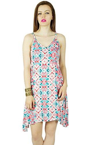 ShiftCustom Strap Dress Women Spaghetti Short Rayon Multicolour Bimba Multicolor Dress q7vTqRx