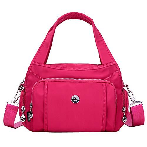 Casual Nylon Shoulder Bags Crossbody Bag Messenger Bags Tote Bags Handbag for Women (Rose) ()