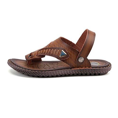 Nuovi sandali portatili antisdrucciolevoli dei sandali di estate degli uomini I pattini di spiaggia doppio di uso dei pistoni della spiaggia, Khaki, UK = 6, EU = 39