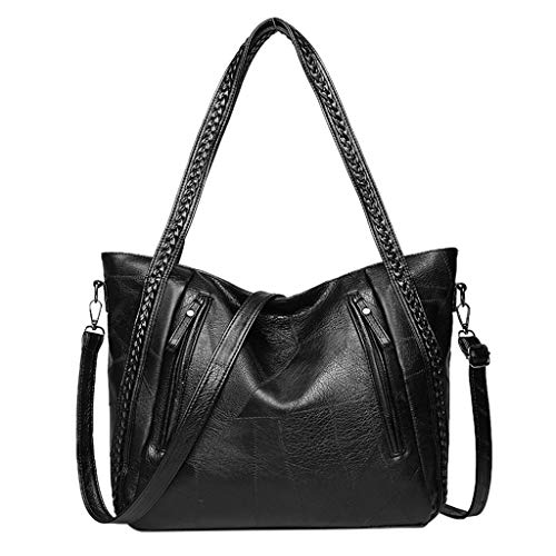 TWinmar Fashion Business Leather Handbags, Womens Casual Shoulder Bags mit Durable Woven Shoulder Strap Large Capacity Portable Messenger Bag