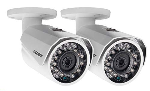 Lorex 1080p HD Bullet Security Cameras Weatherproof 150′ Night-Vision