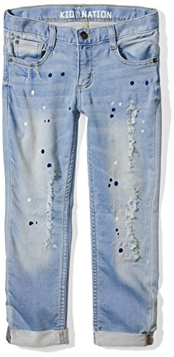Kid Nation Girls Stretch Knit Denim Boyfriend Fit Jean 10 Astoria