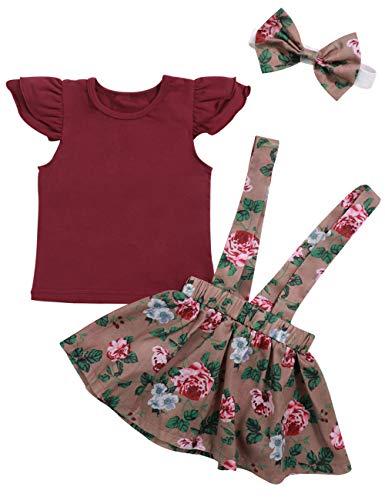 Toddler Baby Girls Summer Outfits Short Sleeve Ruffle