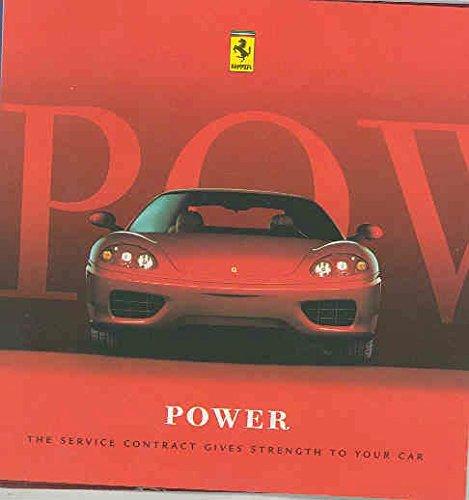 1995 2000 2004 Ferrari 360 456M 550 F355 Brochure (Modena 360 Spider Ferrari)