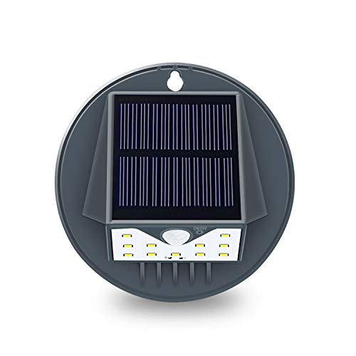 Solar Lights Outdoor, Waterproof Wireless Motion Sensor Light with Wide Angle, Easy-to-Install Security Wall Light for Patio,Deck,Yard,Garden,Pathway