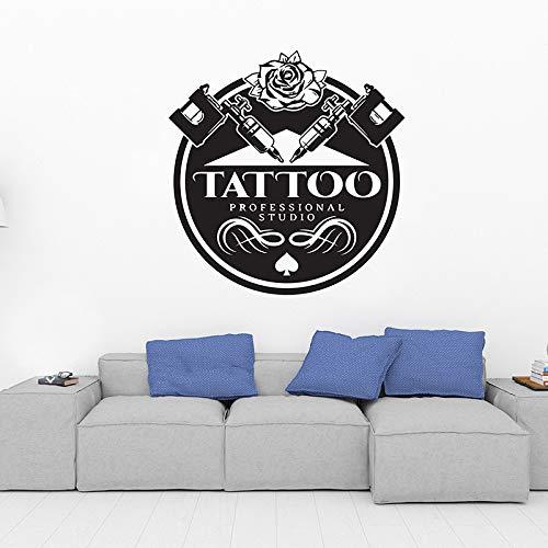 TYLPK Tatuajes de vinilo extraíbles para salón de tatuaje Negro ...