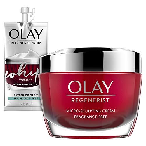 Olay Regenerist Micro-Sculpting Cream Face Moisturizer with Hyaluronic Acid, Niacinamide & Vitamin B3+, Fragrance-Free…