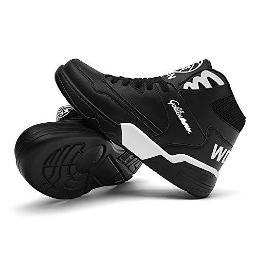 Sportive Top Piatte 2 Comode MUOU Sneakers Nero Casual Sneaker Scarpe High da Uomo Bianche Scarpe Scarpe gwg0UWXqp