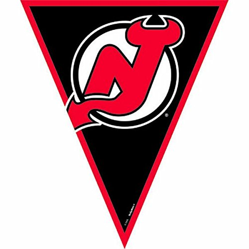 Super Cool New Jersey Devils NHL Pennant Banner, 1 Piece, Made from Plastic, Birthday/ Victory/ Tailgate Party, 12 Feet by Amscan