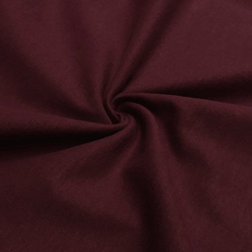 Burgundy Cotton Fabric (Cotton Flannel Fabric 45