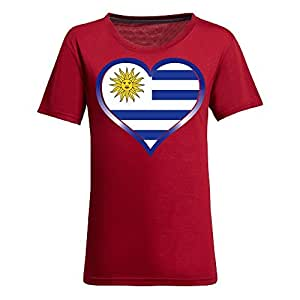 Brasil 2014 FIFA World Cup Theme Short Sleeve T-shirt,Football Background Womens Cotton shirts for Fans Red
