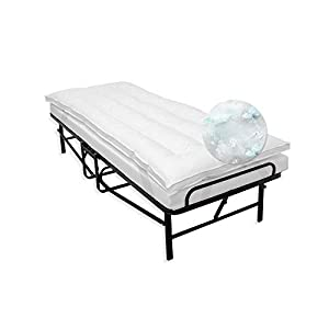 SensorPEDIC MemoryLOFT Cot Mattress Topper, White