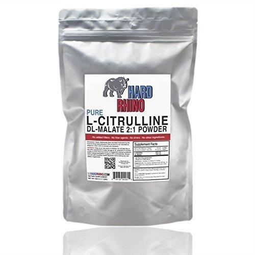 L-Citrulline DL-Malate 2:1 Powder. (500G) by Hard Rhino